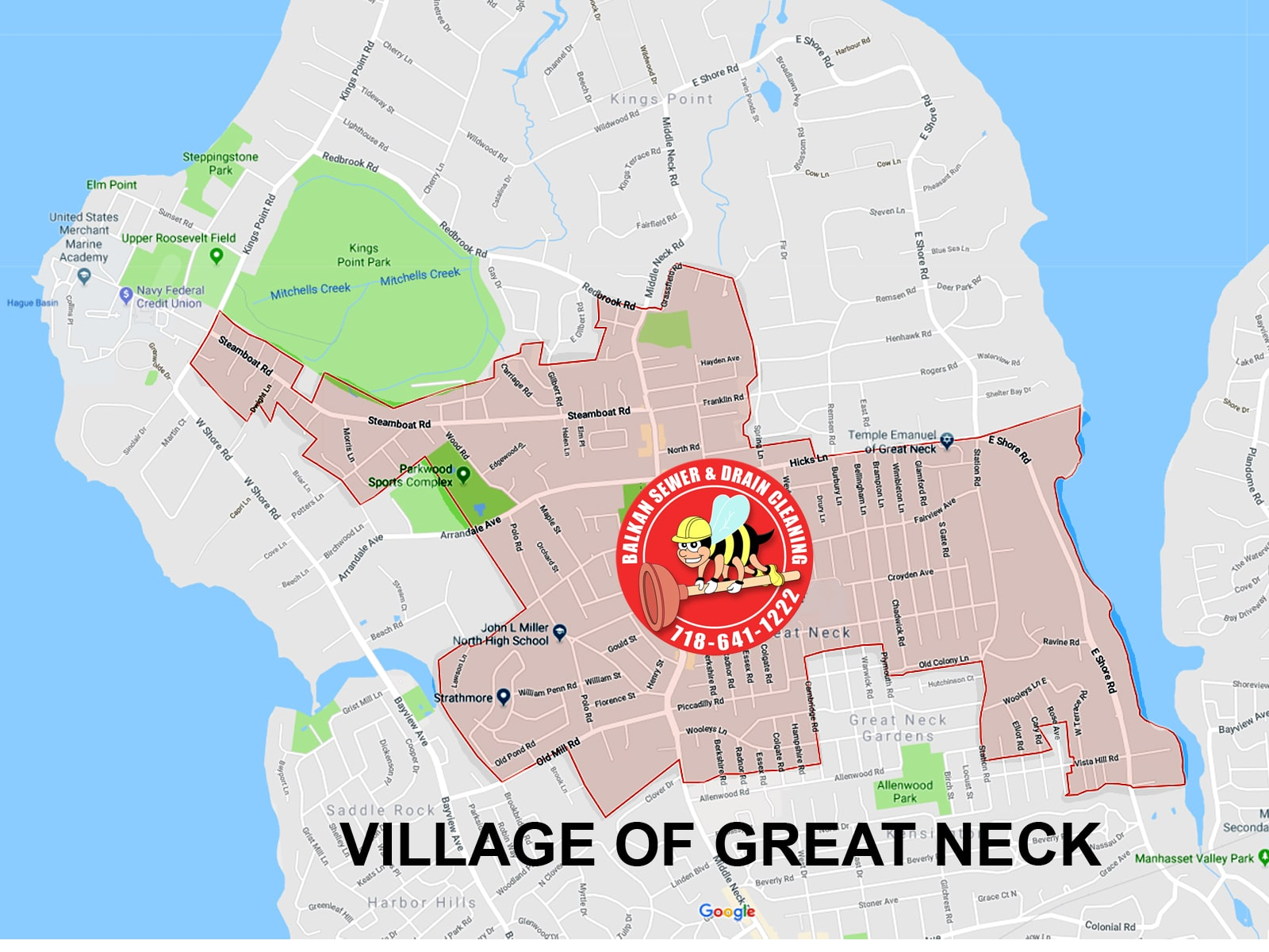 Great Neck sewer cleaner