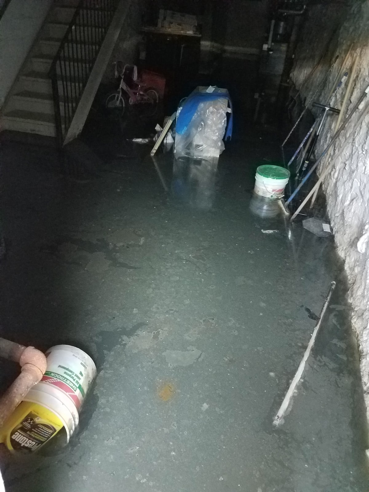 Queens sewer clogged