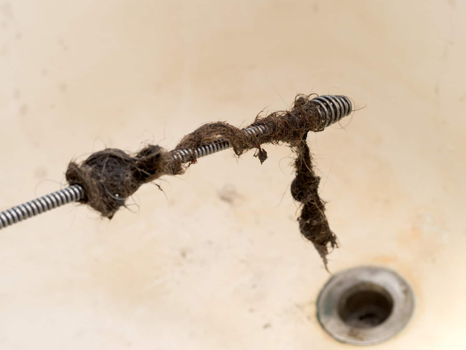 hair clogged drain